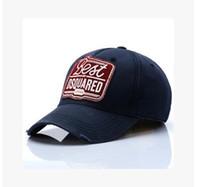 algodón estrella popular al por mayor-Sombreros al aire libre de los hombres del logotipo populares estrella del pop sombreros de béisbol del estilo de la calle lavados casquillos del pato de algodón