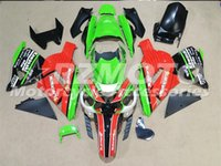 Wholesale 3 free gifts ABS motorcycle Fairing kits Fit For Kawasaki Ninja ZX R ZX R Red Green vp4