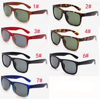 Wholesale fast butterfly - 7 colors outdoors Fashion High quality women sunglasses brand designer justin sunglass men glasses Goggles Sunglasses Fast Shipping MOQ=10