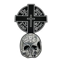 Wholesale patches for vests for sale - Super Cool the Black Label Cross Motorcycle club Patch MC Embroidered Full Back For Rocker Biker Vest Patches for clothing