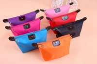 Wholesale Nylon Soft Case - Dumpling Makeup Bag Polyester Cosmetic Bag Around Soft Portable Neceser Case Pouch Toiletry Make Up Bags Coin Purse