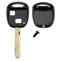 yaris uzaktan kumanda anahtarı toptan satış-Toyota YARIS COROLLA için 2 Düğme Araba Anahtarı Kabuk RAV4 ANAHTAR FOB UZAKTAN DURUMDA D20