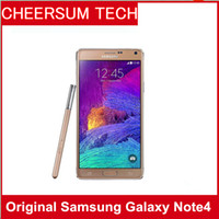 Wholesale 4g Cell Unlock - Original Samsung Galaxy Note 4 Unlocked Cell Phone 16mp Camera 3gb Ram and 32gb Rom 3g 4g 5.7'' Touch phone
