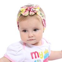 Wholesale Infant Princess Accessories - Baby Headbands Accessories and Bows for newborn Infant Elastic Bow Headbands Kids Headwear Princess Floral Bowknot Bunny Ear turbans KHA333
