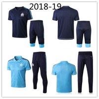 Wholesale men s express - Marseilles short sleeved training suit 2018 2019 OM Marseilles training suit foot L. GUSTAVO THAUVIN 18 19 Marseille tracksuit Free express