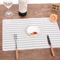 yemek masaları ücretsiz gönderim toptan satış-Chic Sofra Ped Yemek Masası Mat Isı Yalıtım Kaymaz Basit Placemats Disk Beyaz Pedleri Kase Coaster Mutfak Aksesuarları Ücretsiz kargo