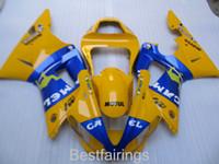 carenado en venta r1 yamaha al por mayor-Venta caliente kit de carenado para YAMAHA R1 2000 2001 azul amarillo carenados YZF R1 00 01 FH46