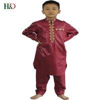 traditionelle h großhandel-HD 2018 neue afrikanische traditionelle Jungen Kleidung Dashiki Kinder Kleidung Kinder Jungen Männer Hosen Reißverschluss Modell Kinderkleidung