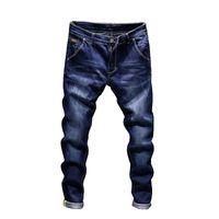 jeans masculino venda por atacado-Designer de moda Jeans Skinny Homens Hetero fino elástico jeans Mens Casual Motociclista Masculino Estiramento Calças Jeans Calças Clássico