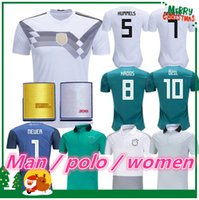 Wholesale Polo Xxl - 2018 Germany home Jersey MULLER DRAXLER OZIL KROOS Soccer Jerseys 2019 woman GOTZE HUMMELS WERNER HECTOR GORETZKA women POLO Football Shirts