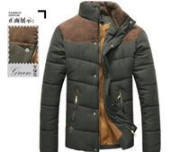 Wholesale winter parkas for men resale online – Winter Jacket Men Warm Causal Parkas Cotton Banded Collar Winter Jacket Male Padded Overcoat Warm Outerwear XL for Men