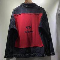 Wholesale chaqueta denim hombre - 2018 New arrived Skinny Slim Denim Jacket Men Women 1a:1 High Quality Cowboy Men's Jean Jacket Chaqueta Hombre