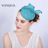 Wholesale Racing Charms - 16COLORS select charming fascinator headband for popular women races church wedding Events hats on hair clips bridal hair accessories SYF147