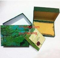caixas externas venda por atacado-Frete Grátis Caixa de Relógio Verde Casos Papers Cartão de Arquivo Caixas De Presente Verde 116610 116660 116520 116710 116613 Original Caixa de Relógio de Pulso Externo Interior