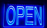 ingrosso pub segni aperti-LS004-b APERTO Pernottamento Negozio Bar Pub Club Neon Light Registrati Decor Spedizione gratuita Dropshipping Wholesale 8 colori tra cui scegliere