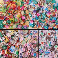 Wholesale fimo nail polymer for sale - 5000 D Polymer Fimo Slices DIY Nail Art Slime Supplies Charms Slime Making Kit Decoration Arts Crafts Fruit Rose Father Christmas