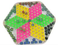 ingrosso migliorare la plastica-Chinese Checkers Plastic Chessboard Classic Marbles Famiglia Set Fun Game Toy Stimola il potenziale e migliora il gioco di abilità di cooperazione