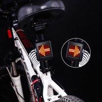 usb führte ladeanzeige großhandel-Fahrrad Licht Automatische Richtungsanzeige Rücklicht 64 LED USB Lade MTB Fahrrad Induktion Blinker Sicherheitswarnlicht