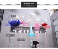 Wholesale Outdoor Festival String Lights - Foil Helium BoBo Balloon Lights up LED String Luminous Outdoor Indoor Party Festival Birthday Wedding Christmas  Valentine`s Days Decoration