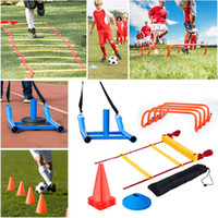 Wholesale Kit Harness - Football Soccer Training Kit Agility Ladder Speed Hurdles Cones Markers Harness