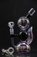 kabarcık kristali toptan satış-ÖRNEK bir baş döndürücü dekore kabarcık zoda tarafından odacıklı kristal berraklığında petrol kulesi bong nargile
