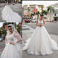 Wholesale lady design wedding dresses for sale - Latest Design Lace Wedding Dresses Scoop Neck Ball Gown Ladies Moroccan Modest Bridal Dresses Wedding Gowns