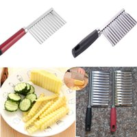 Wholesale vegetable slicers for sale - Group buy Potato Slicer Wavy Cutter Multi function Stainless Steel Cutting Peeler Kitchen Gadget Vegetable Cooking Tool Accessories DHL SHip HH7