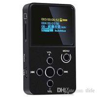 ingrosso slot in lega di alluminio-Lettore MP3 MP3 Player X2 HiFi Audio digitale con alloggiamento della lega di alluminio Slot per schede TF dello schermo OLED Spedizione gratuita