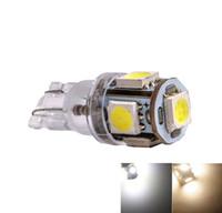 ingrosso ha condotto l'auto calda bianca-T10 194 168 5 SMD 5050 LED Indicatore luminoso per auto Lampadine interne Luce strumenti Lampada porta cuneo 24 V Caldo / Bianco