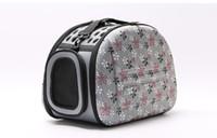 ingrosso borse da viaggio-Pet Dog cucciolo del gatto House Bed Borse da viaggio portatile esterno pieghevole Pet borsa Kennel Mat Pet Products fornisce gli accessori