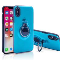 nota caso magnético al por mayor-Anillo magnético Kickstand Estuche Protector de protección híbrido Funda para iPhone X Xr Xs Max 8 7 6 6S Plus Samsung S9 Plus Note 8