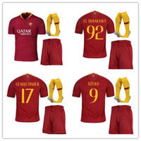 Wholesale matching top shorts - Top quality TOTTI football jersey 2018 19 MAGLIA GARA HOME CAPITANO home jersey 2018 19 Rome football match