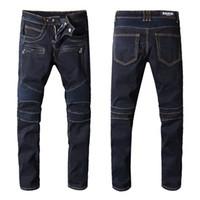 Wholesale bleach jeans men for sale - Men s Distressed Ripped Skinny Biker  Zipper Jeans US 16877fa5ab91