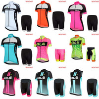 Wholesale Max Bikes - ALE Cycling Jerseys Set 2018 Summer Style For Women Quick Dry Cool Max Bike Wear bib shorts sets Quality Bicycle Clothing C1204
