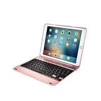 schutzhülle ipad air keyboard großhandel-Drahtloser Bluetooth Tastatur-schützender Fall für Apple ipad Pro 9.7 Zoll Luft 2 iPad 6 Tablette-intelligente Abdeckungs-Fall-Metalloberteil F19