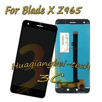 exibição do zte lcd venda por atacado-5.5 '' new preto para zte blade x z965 lte display lcd full + substituição da tela de toque digitador assembléia 100% testado