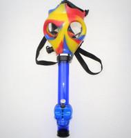 jogos de tubulação venda por atacado-Máscara de gás Bong Tabacco Shisha Tubo De Acrílico Fumar Hookah Fancy Dress Partido Jogo Máscara De Borracha De Silicone