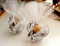 kostenlose romantische geschenke großhandel-Romantischer Schwan formte Entwurf Kästen mit vollem Zusatz süßer Geschenk-Süßigkeitskasten 50pcs / lot freies Verschiffen