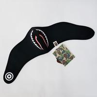 männer gesicht maske winter großhandel-Flut Marke Halbe Gesichtsmaske Shark Camouflage Radfahren Masken für Männer Frauen Herbst Winter Warme Radfahren Schutzausrüstung für Paar