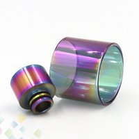 Wholesale rainbow color glasses for sale - Group buy Rainbow Color Glass Tube and Rainbow Metal Drip tip Fit TFV8 BABY TFV12 PRINCE BABY Vape pen E Cigarette DHL Free