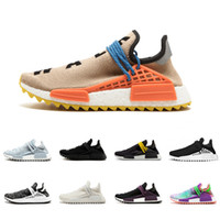 Wholesale glow inks - 2018 Human Race Runner Designer sneakers mens Yellow Holi sun glow nobel ink Pale nude casual sports shoes luxury shoes womens running shoes