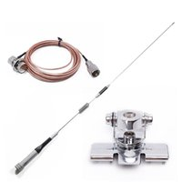 Wholesale radio antenna cable - Mobile Radio Antenna Package : SG-M507 UV Dual Band Antenna+Nagoya RB-400 Antenna Clip Mount+5M Extend RG-316 Teflon Cable