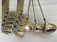 housses de pilotes de golf achat en gros de-Brand New 4 étoiles Honma S-06 Set Honma Beres Golf Set Golf Club Driver + bois de parcours + Fers + Fers + tige de graphite avec couvercle