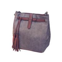Wholesale drawstring bag trend - 2018 European and American style new retro fashion handbags tassel bucket drawstring trend tasselShoulder Bag Handbag big bag