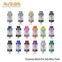 ekstra bobin toptan satış-Freemax Mesh Pro Subohm Tankı 5 ml Çift Üçlü Örgü Bobin Ekstra 6 ml Cam Tüp ile Alt Ohm Tankı 100% Orijinal