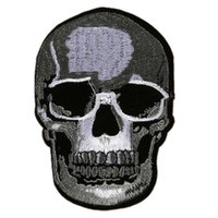 Wholesale sticker punk - Embroidered Patches Skull Cranium Punk Style Sewing Iron On Badge For Bag Jeans Hat Appliques DIY Handwork Sticker Apparel Decoration