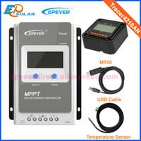 lcd mppt solar venda por atacado-Tracer 4210A N12v 24 v mppt controlador solar 40A Com Medidor de LCD e USD e Sensor De Temperatura