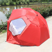 Wholesale tent umbrella - Portable Sandy Beach Umbrella Outdoor Gear Camping Tents Shelters Have pocket Large Number Oxford Sunshade Red Blue 88ty bb