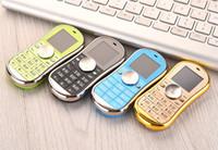 siyah cep telefonu bluetooth toptan satış-2017 Sıcak Satış Siyah Fidget Spinner Cep Telefonu 1.3 inç Çift SIM Kart Bluetooth El Spinner Cep Telefonu Noel Hediyesi Parti Iyilik çocuklar için