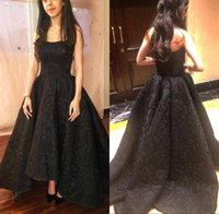 Wholesale strapless lace covered evening dress for sale - New Elegant Black Lace High Low Prom Party Dresses Sexy Strapless Sleeveless Sweep Train Formal Evening Dresses Women Gowns